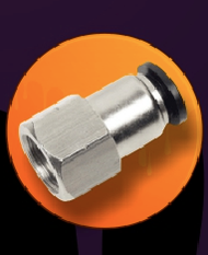 Female Straight Connector Push-In Fitting