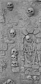 Skull Wall S5: 5. Lower crypt & stack of skulls (Unpainted Black)