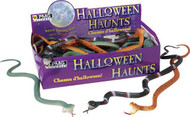 Box of Assorted Snakes (24 Pieces) LOT Halloween Rubber Prop