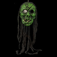 Gomez the Gan-Green Faced Severed Head Halloween Prop