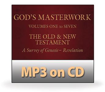 God's Masterwork Complete Series, Volumes 1-7.  68 MP3 on 4 CDs