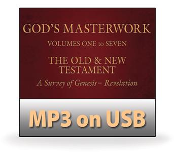 God's Masterwork Complete Series, Volumes 1-7.  68 MP3 on USB Series
