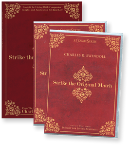 Strike the Original Match with Bible Companion.  14 CD Series & Bible Companion