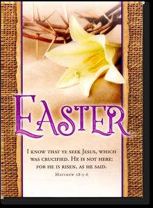 Seek Jesus.  Easter Card