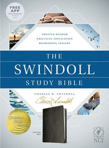The Swindoll Study Bible.  NLT   Black Leather Like Book