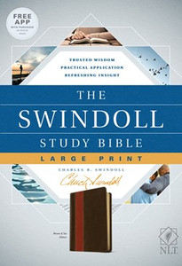 The Swindoll Study Bible.  NLT Brown/Tan, Slightly Larger Print Leather Like Bible