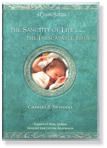 The Sanctity of Life ... The Inescapable Issue.  4 CD Series