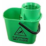 Mop Bucket & Wringer Green