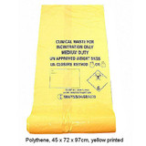 Yellow Clinical Sacks