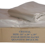 Clear Sacks 18x29x39 Standard