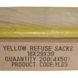 Yellow Sacks 18x29x39 Standard