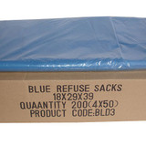 Blue Sacks 18x29x39 Standard