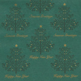 Green 2-Ply Festive Tree Napkins, 33cm - Pack of 100