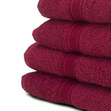 Hand Towel 6 Pack - Burgundy, 500gsm