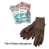 Heavy Duty Gloves, Black, Large - Pack of 2