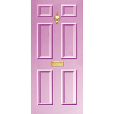 NEW RANGE: Door Decal with Letterbox and Knocker - Lilac