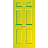 NEW RANGE: Door Decal with Letterbox and Knocker - Lime Green