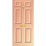 NEW RANGE: Door Decal with Letterbox and Knocker - Peach