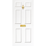 NEW RANGE: Door Decal with Letterbox and Knocker - White