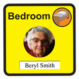 Personalised Bedroom Sign - 300mm wide x 300mm deep