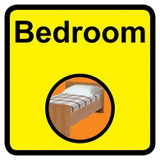 Bedroom sign - 300mm x 300mm
