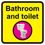 Bathroom and Toilet sign - 300mm x 300mm