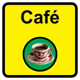 Cafe sign - 300mm x 300mm