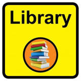 Library sign - 300mm x 300mm