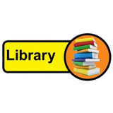 Library sign - 480mm x 210mm