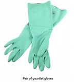 Nitrile Gauntlet Gloves Green Medium
