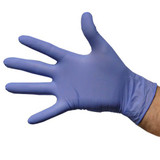 Medical Grade Blue Vinyl Gloves, Powderfree - Medium