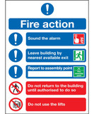 Fire Action (Symbolised) A5