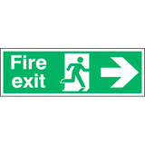 Fire Exit Running Man Arrow Right
