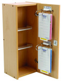 Drug & Medicine Cabinet - 325 x 245 x 775mm - Wooden