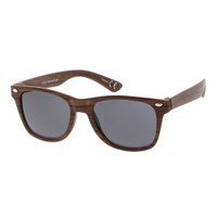 wooden kids wayfarer sunglass-dark brown