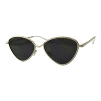 Rylie Metal Cat Eye-Silver/Black Lens