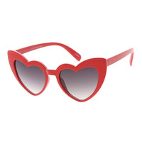 Kids Heart Sunglasses-Red