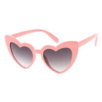 Kids Heart Sunglasses- Coral