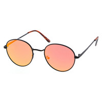 Best Fitted Round Sunglass-Black/Orange