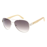 Metal and Wooden Aviator- Silver