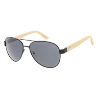Metal and Wooden Aviator- Black