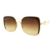 Sophia Metal Sunglass- Brown
