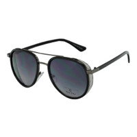 Eva Crystal Aviator- Black/Gunmetal