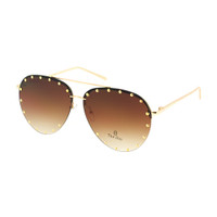 The Studded Aviator- Gold