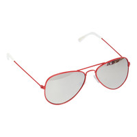 Kids Metal Aviator-Red