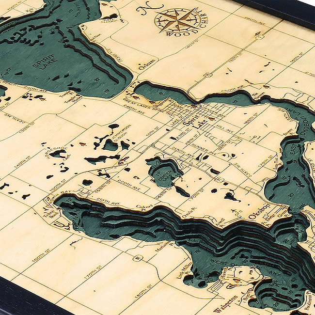 milford iowa, map of west davenport iowa, lake okoboji arnold's park iowa, map okoboji bridges bay resort, dickinson county iowa, map of lake okoboji, on map of west okoboji iowa