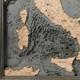 nautical wood map italy coastal blue grey