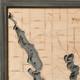 nautical wood map walloon lake coastal blue grey