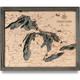 nautical wood map great lakes small coastal blue grey