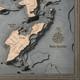 nautical wood map bass island coastal blue grey